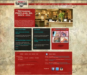 Infinity Tattoo Website